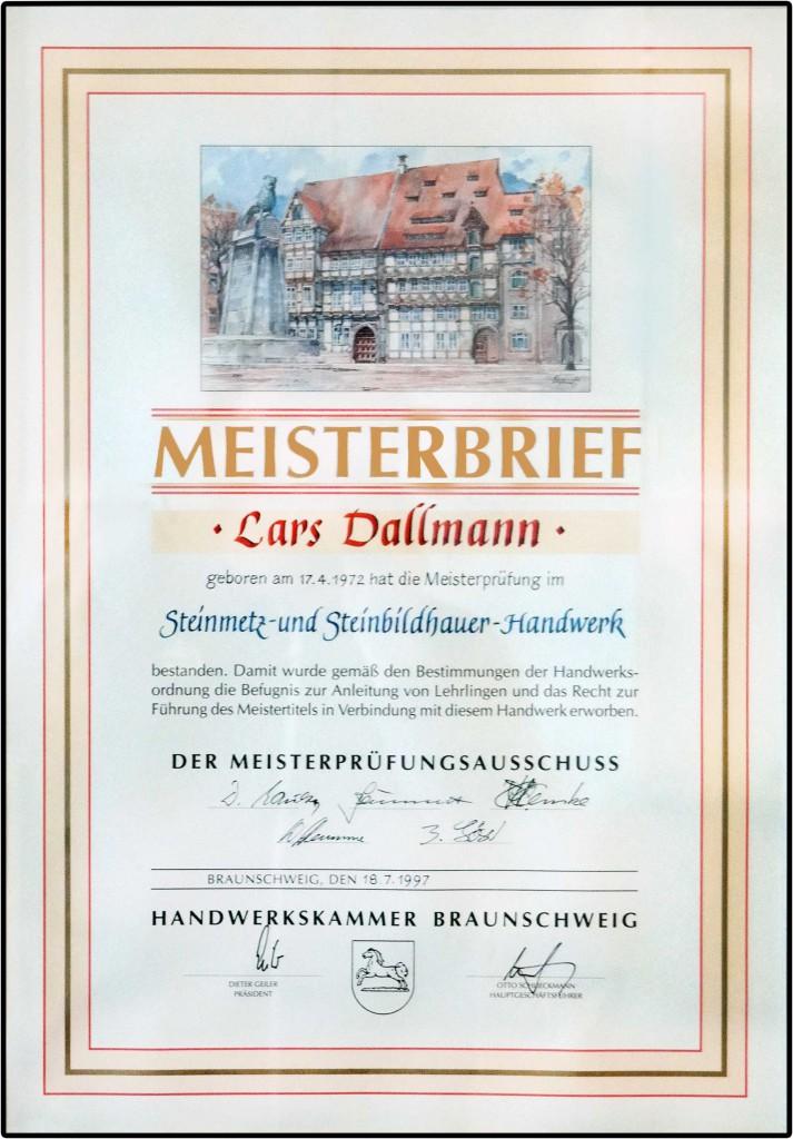 Meisterbrief Lars Dallmann